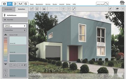 Fassadengestaltung software kostenlos  SPECTRUM 5: Caparol